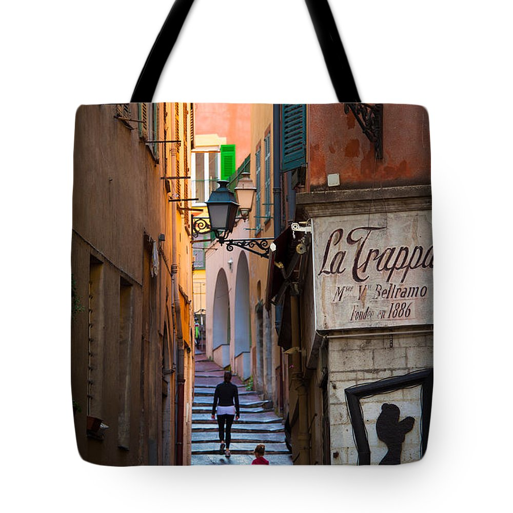 Cote D'azur Tote Bag featuring the photograph La Trappa by Inge Johnsson