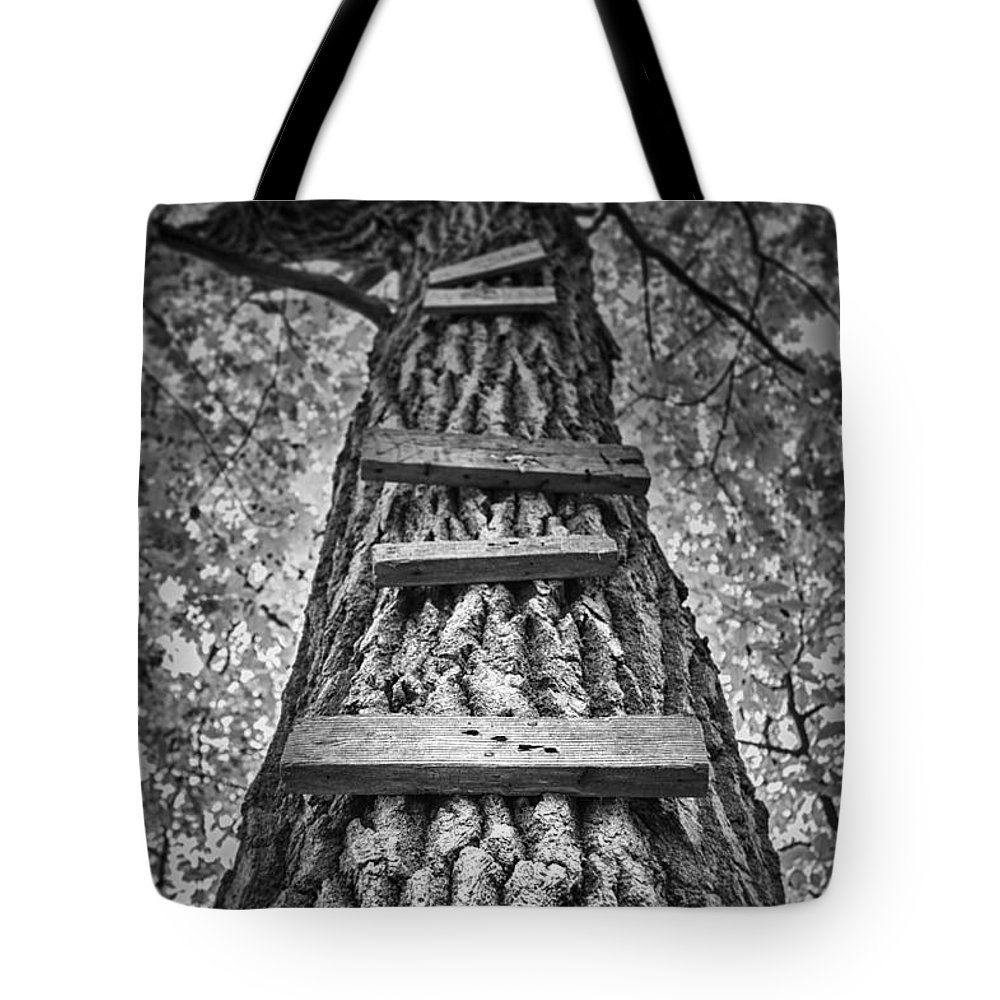 Tree Tote Bag featuring the photograph Ladder to the Treehouse by Scott Norris