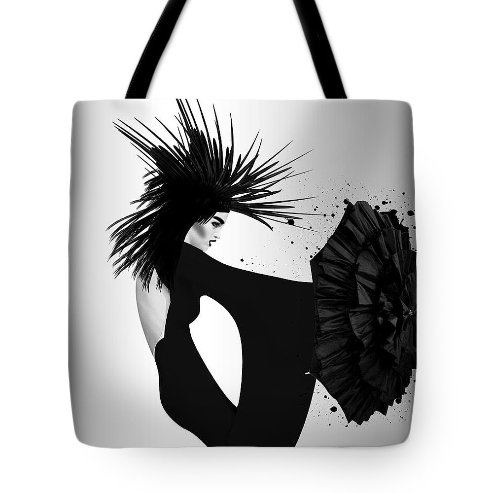 Woman Tote Bag featuring the photograph Lady D 2 by Mark Ashkenazi