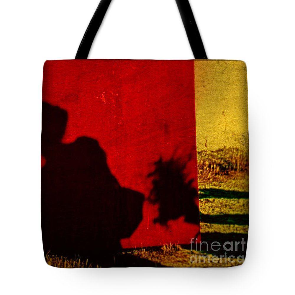 Provence Tote Bag featuring the photograph Lady From Arles In Full Regalia And Her Shadow by Daniele Auvray