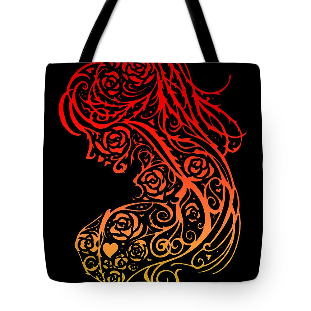 Lace Tote Bag featuring the digital art Lady Lace by Carra Leigh