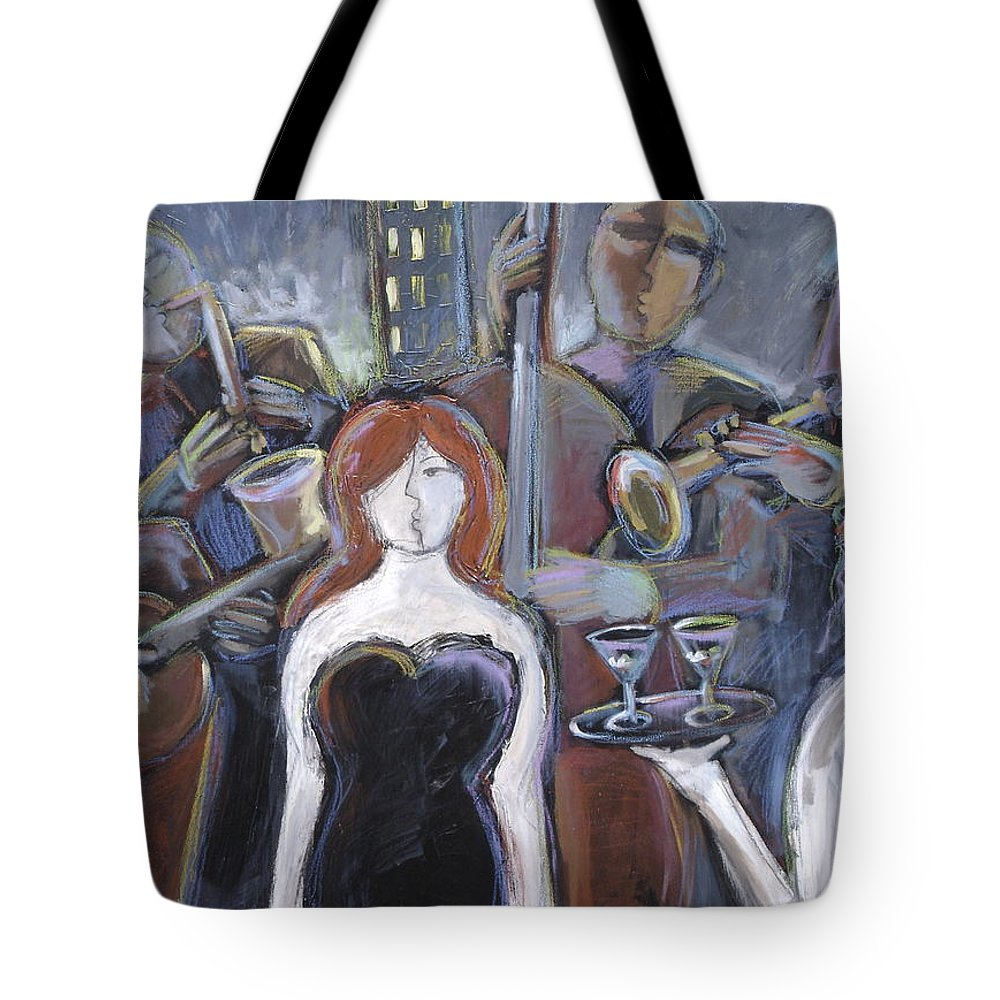 Jazz Singer Tote Bag featuring the painting Lady Sings The Blues by Gerry High