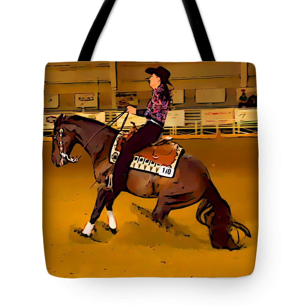Horse Tote Bag featuring the photograph Lady Slide by Alice Gipson