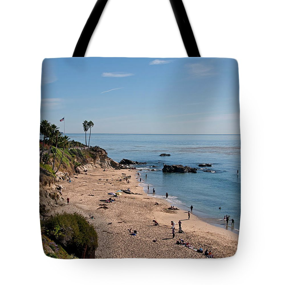 Tranquility Tote Bag featuring the photograph Laguna Beach Cove by Mitch Diamond