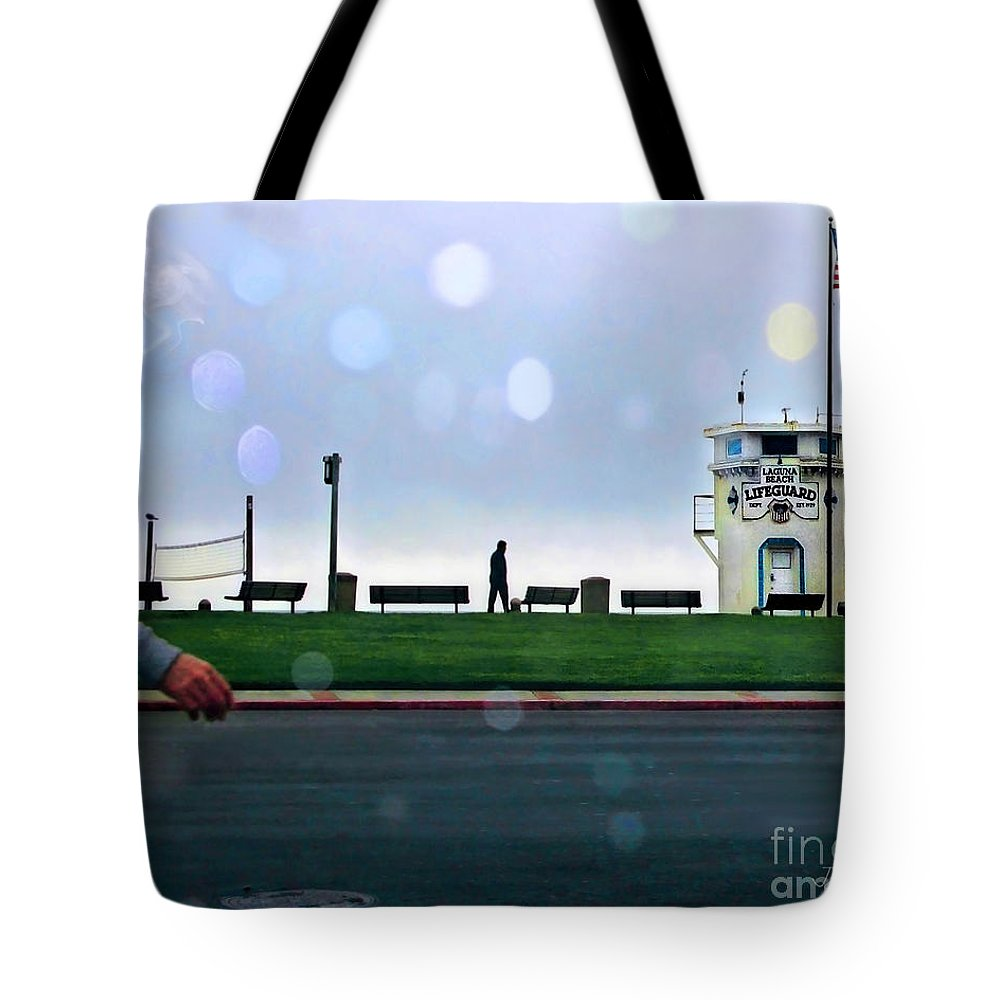 Laguna Tote Bag featuring the photograph Laguna Living-lifeguard Station by Jennie Breeze