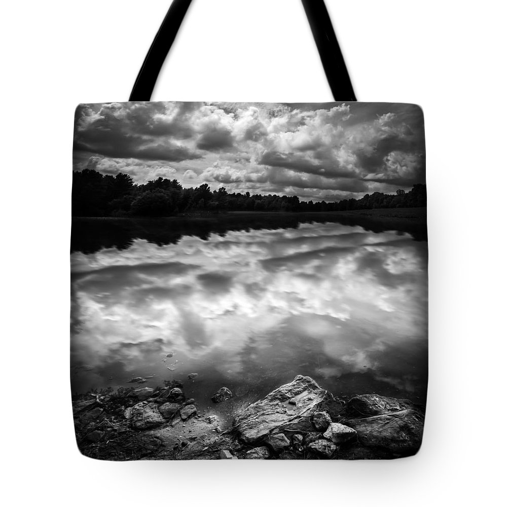 Wilderness Tote Bag featuring the photograph Lake Auburn Twilight by Bob Orsillo