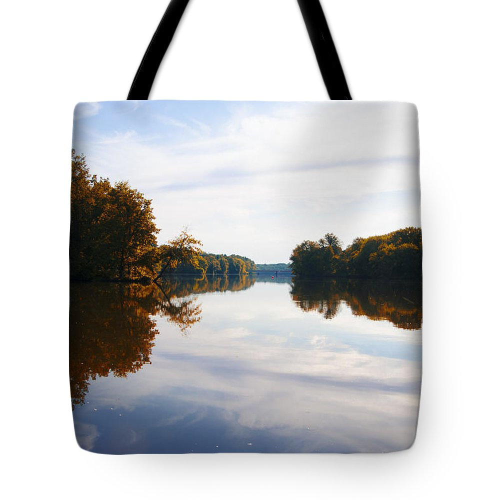 Lake Tote Bag featuring the photograph Lake Carnegie Princeton by Bill Cannon