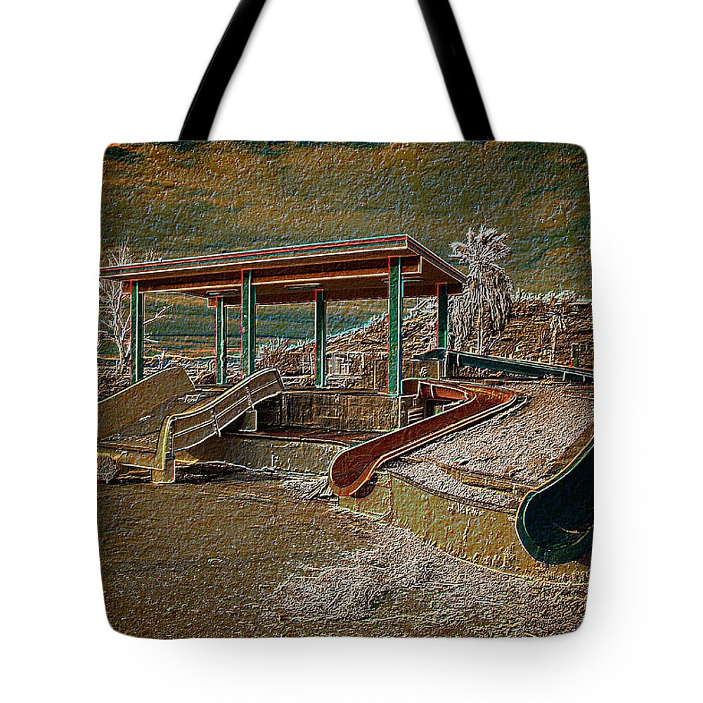 Lake Delores Water Park Tote Bag featuring the photograph Lake Delores Water Park by Richard J Cassato