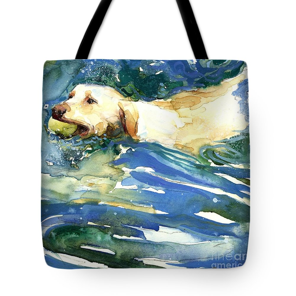 Lake Tote Bag featuring the painting Lake Effect by Molly Poole