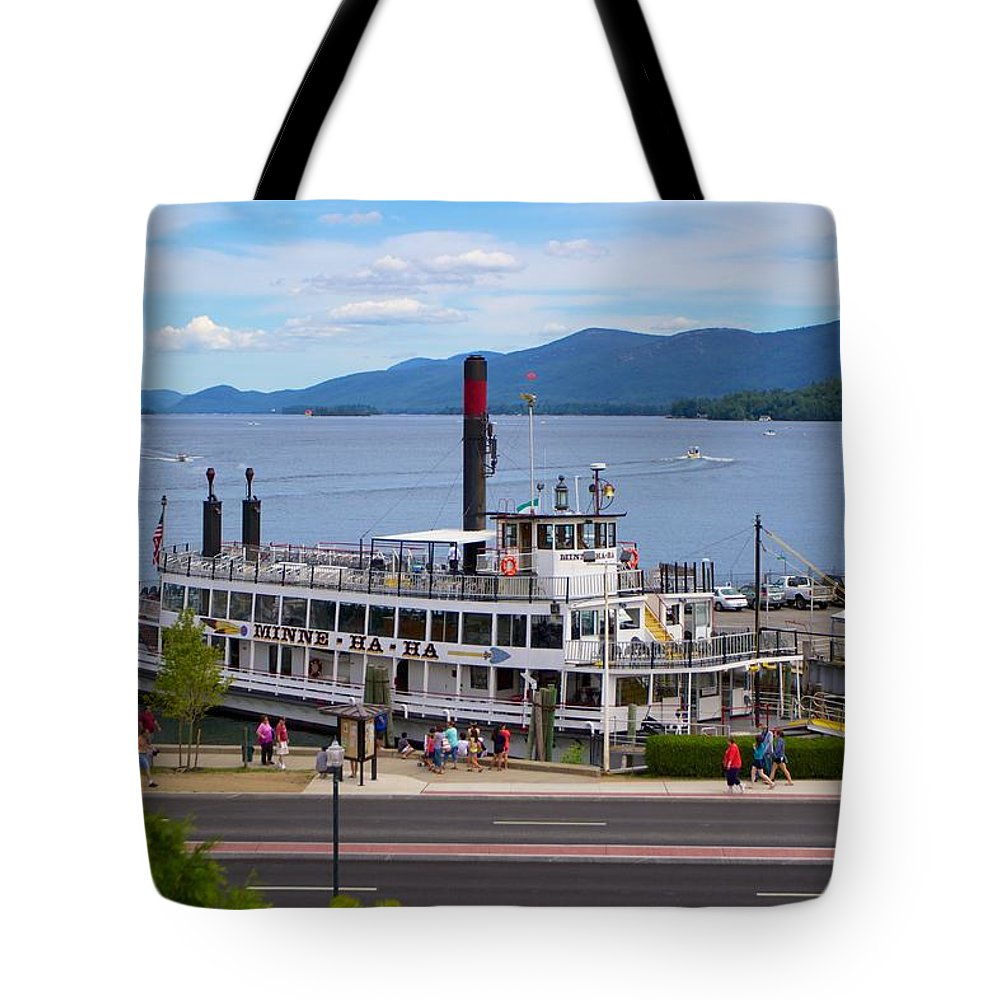 Minne Ha Ha Tote Bag featuring the photograph Lake George Cruise by Allan Morrison