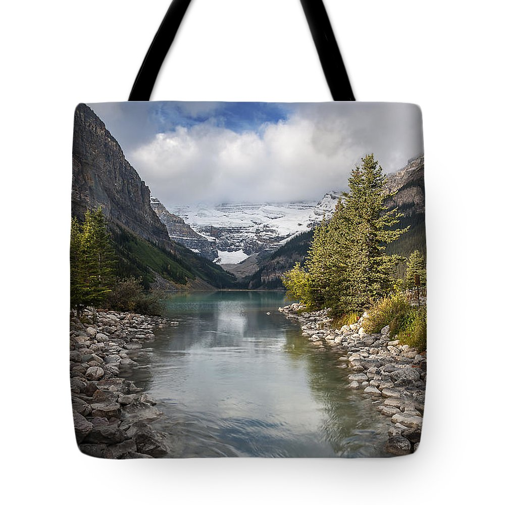 Lake Louise Tote Bag featuring the photograph Lake Louise by Cenwyn Jones