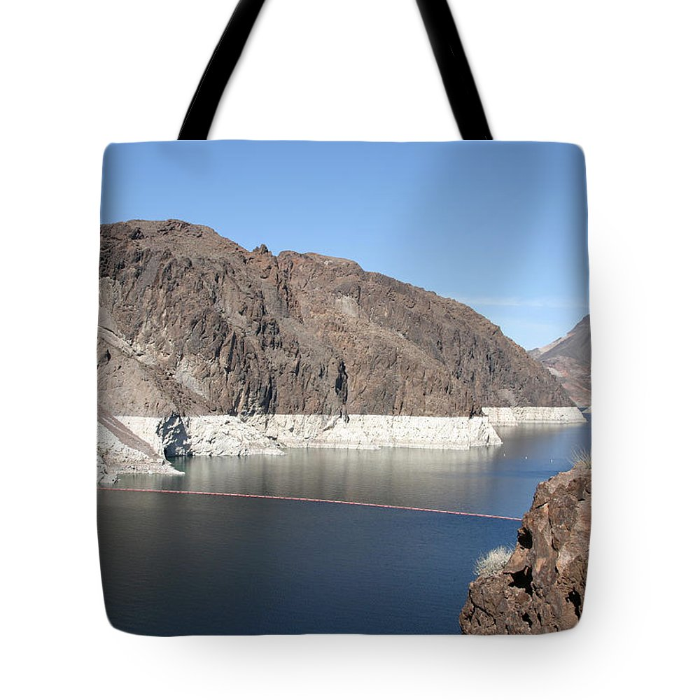 Hoover Dam Tote Bag featuring the photograph Lake Mead At Hoover Dam 2 by Kathy Hutchins