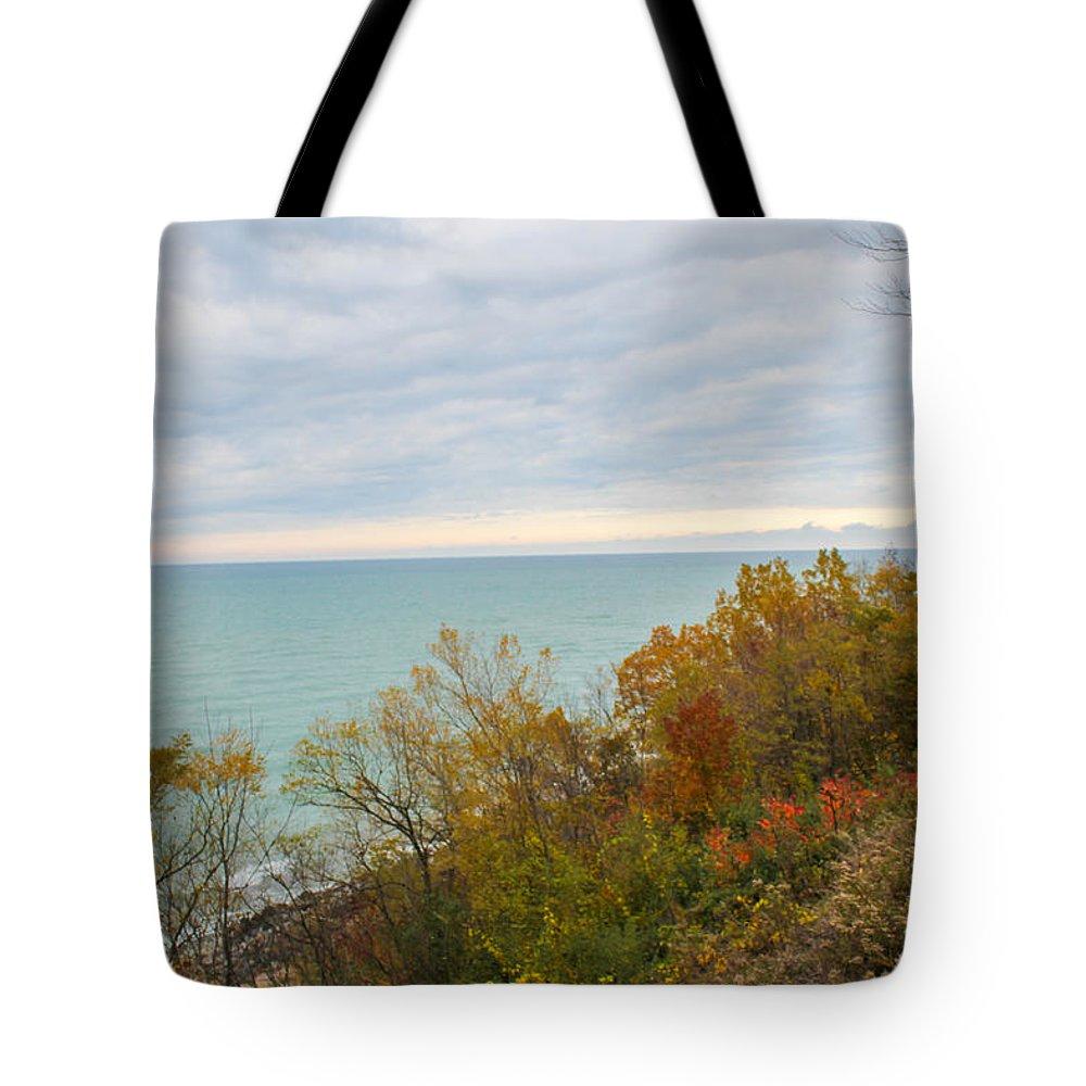 St. Joseph Michigan Tote Bag featuring the photograph Lake Michigan Fall by Harold Hopkins