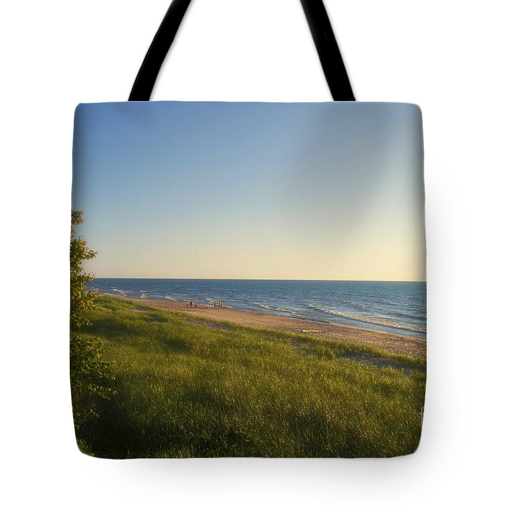 Lake Michigan Tote Bag featuring the photograph Lake Michigan Shoreline 05 by Thomas Woolworth