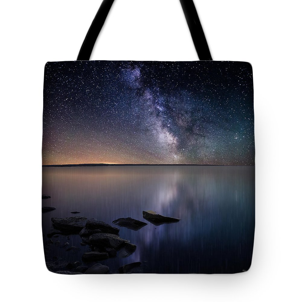 Stars Tote Bag featuring the photograph Lake Oahe by Aaron J Groen