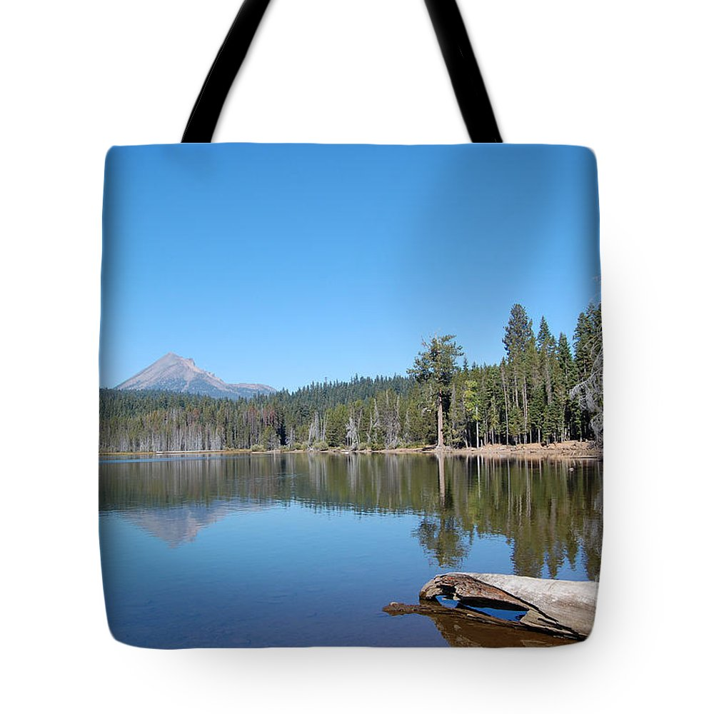 Lake Of The Woods Oregon Tote Bag featuring the photograph Lake Of The Woods 1 by Debra Thompson