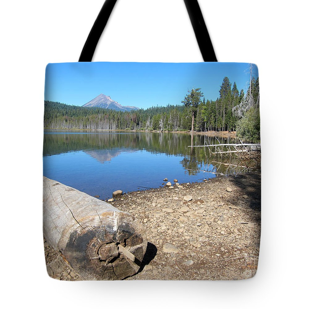 Lake Of The Woods Oregon Tote Bag featuring the photograph Lake Of The Woods 6 by Debra Thompson