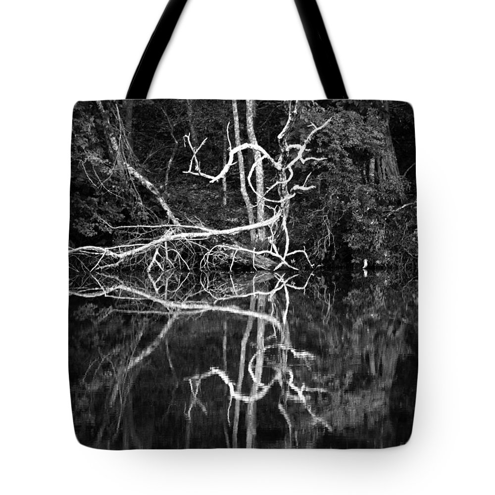 Lake Tote Bag featuring the photograph Lake Reflection by Photos By Cassandra