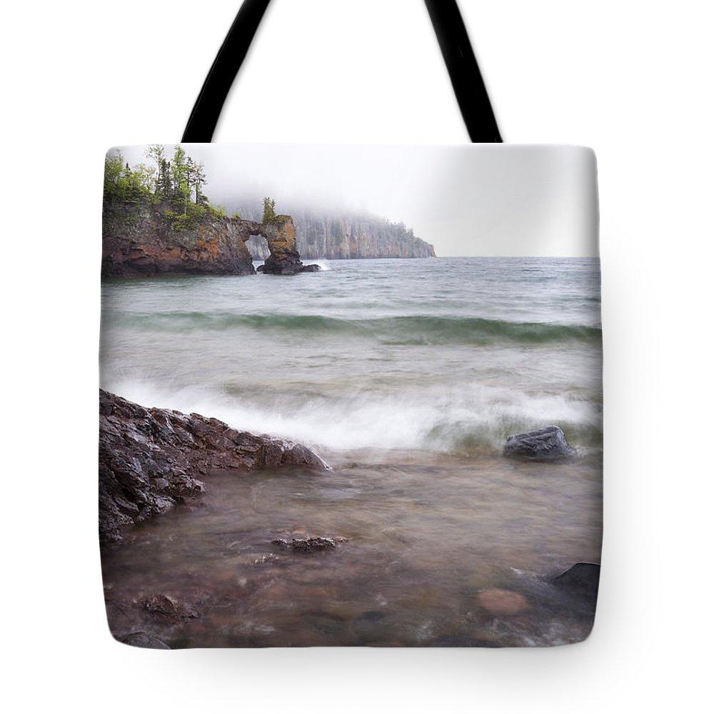 Lake Tote Bag featuring the photograph Lake Superior Tettegouche 2 by John Brueske