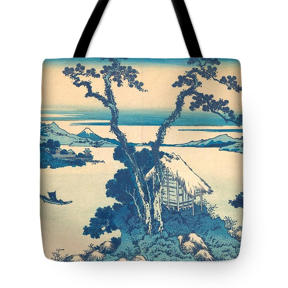 1830-1832 Tote Bag featuring the painting Lake Suwa In Shinano Province by Katsushika Hokusai