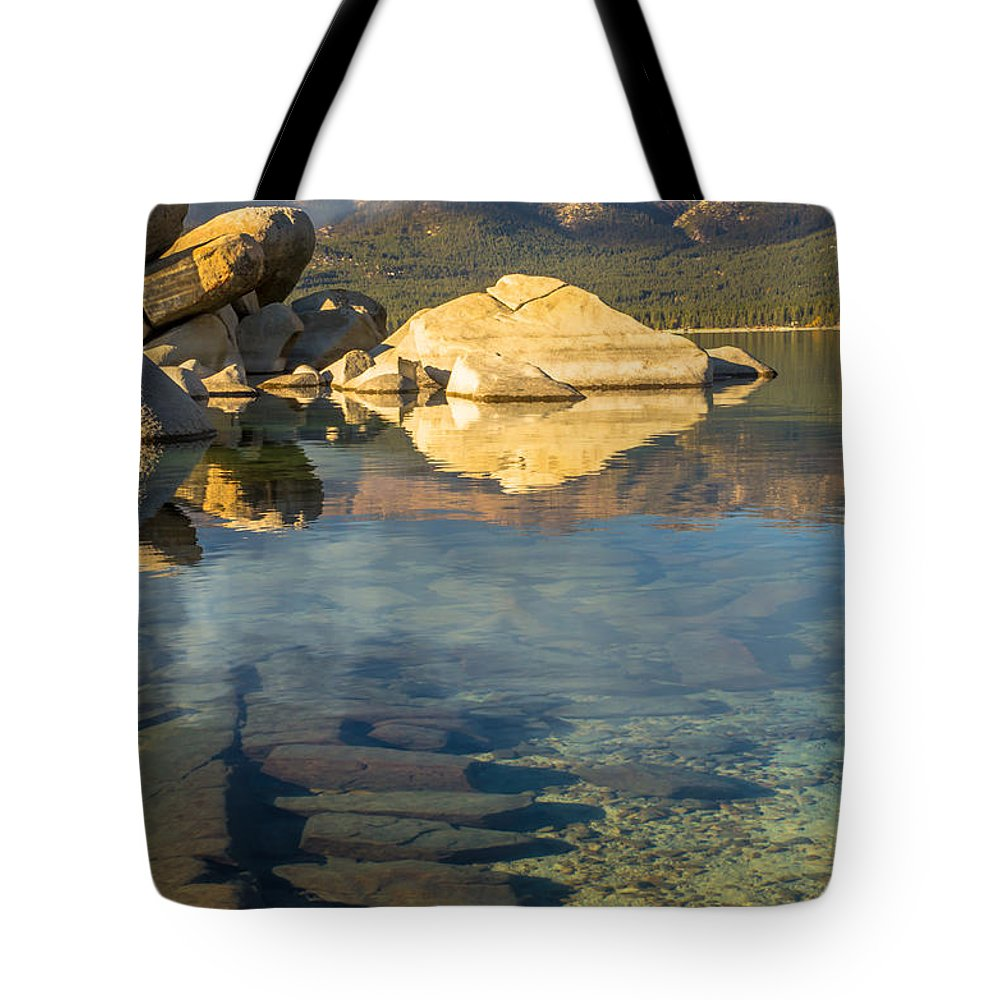 Landscape Tote Bag featuring the photograph Lake Tahoe Clarity by Marc Crumpler