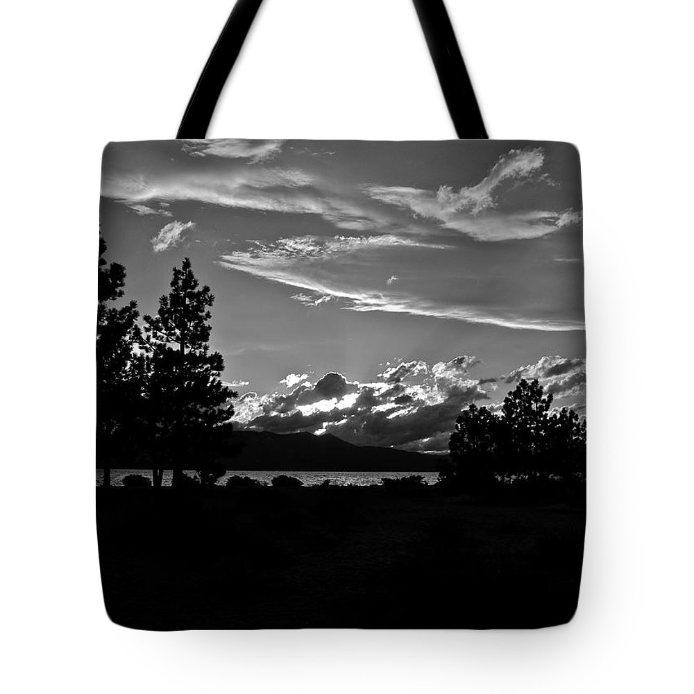Lake Tahoe Tote Bag featuring the photograph Lake Tahoe Just After Sunset by Kirsten Giving