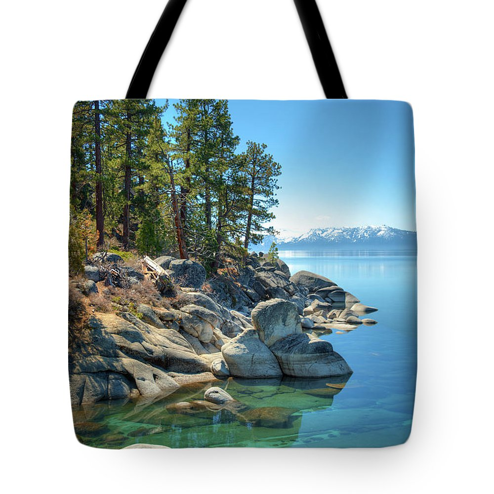 Scenics Tote Bag featuring the photograph Lake Tahoe, The Rugged North Shore by Ed Freeman