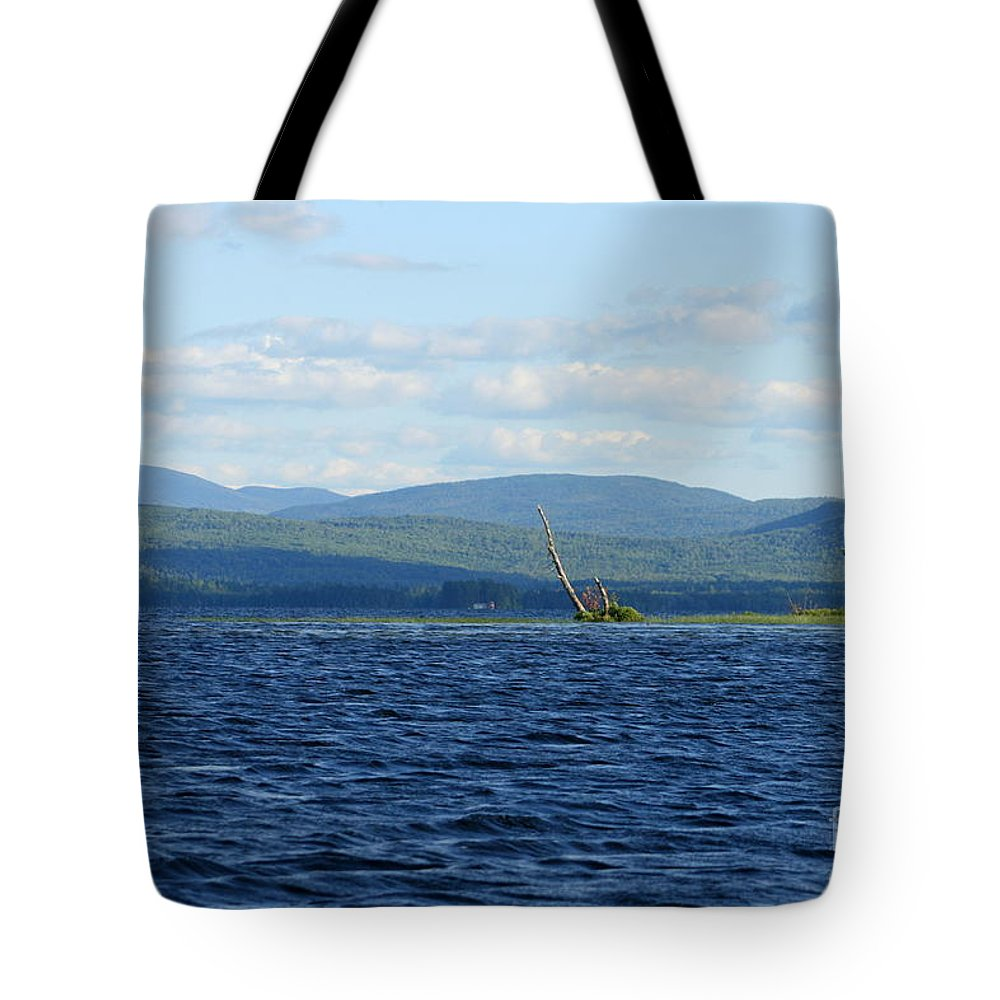 Lake Tote Bag featuring the photograph Lake Umbagog Choppy Waters by Neal Eslinger