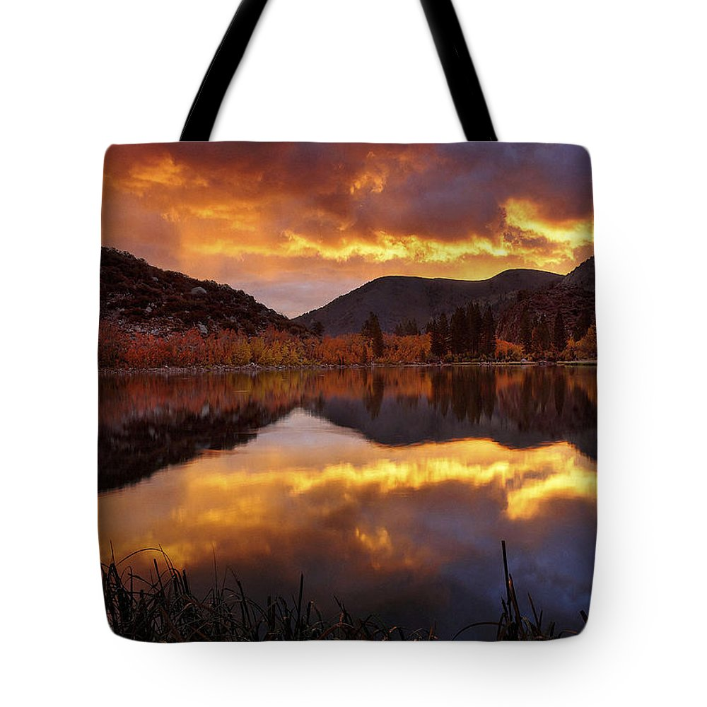 Lakeview Tote Bag featuring the photograph Lake View 1 by Ingrid Smith-Johnsen