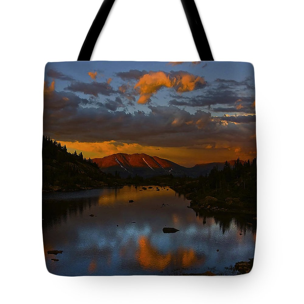 Lake View Tote Bag featuring the photograph Lake View 2 by Ingrid Smith-Johnsen