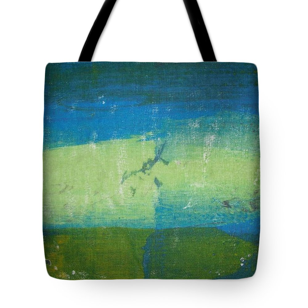 Abstract Tote Bag featuring the painting Lake Windermere by Michelle Deyna-Hayward