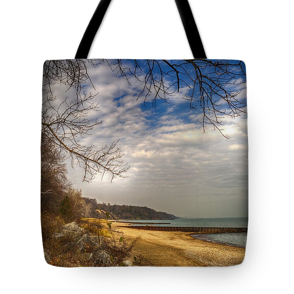 Water Tote Bag featuring the photograph Lakeside by Margie Hurwich