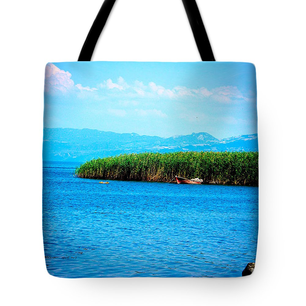 Lake Tote Bag featuring the photograph Lakeview by Zafer Gurel