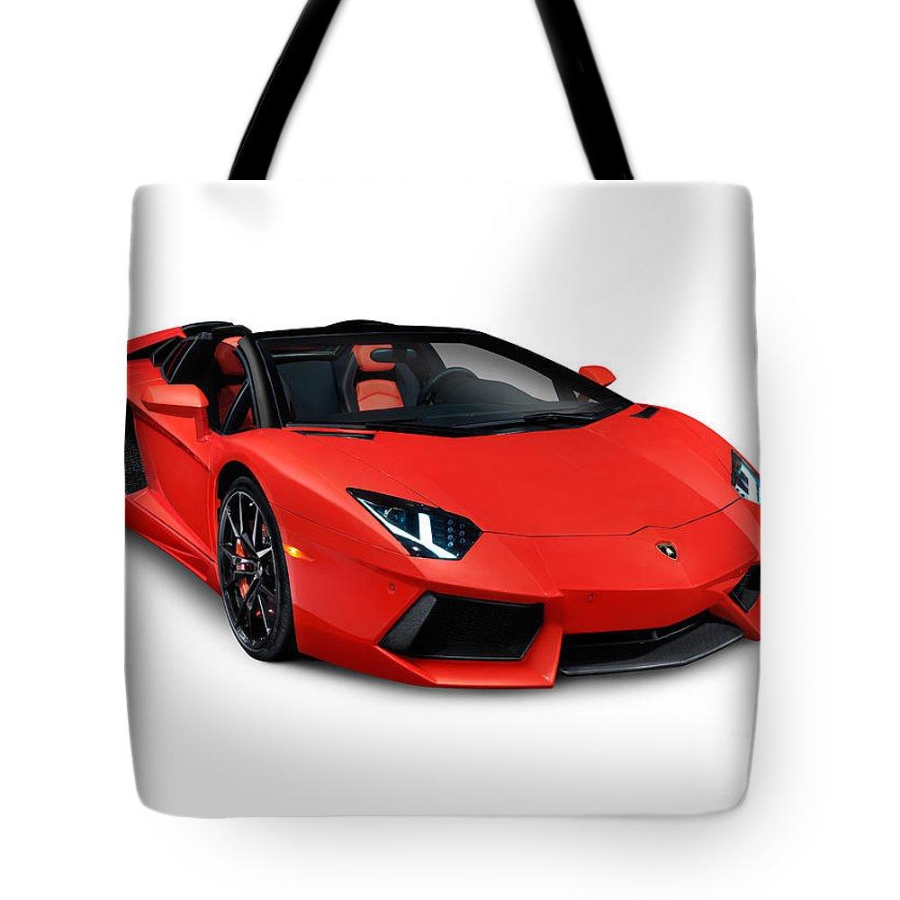 Lamborghini Aventador Lp 700 4 Roadster Sports Car Tote Bag For Sale