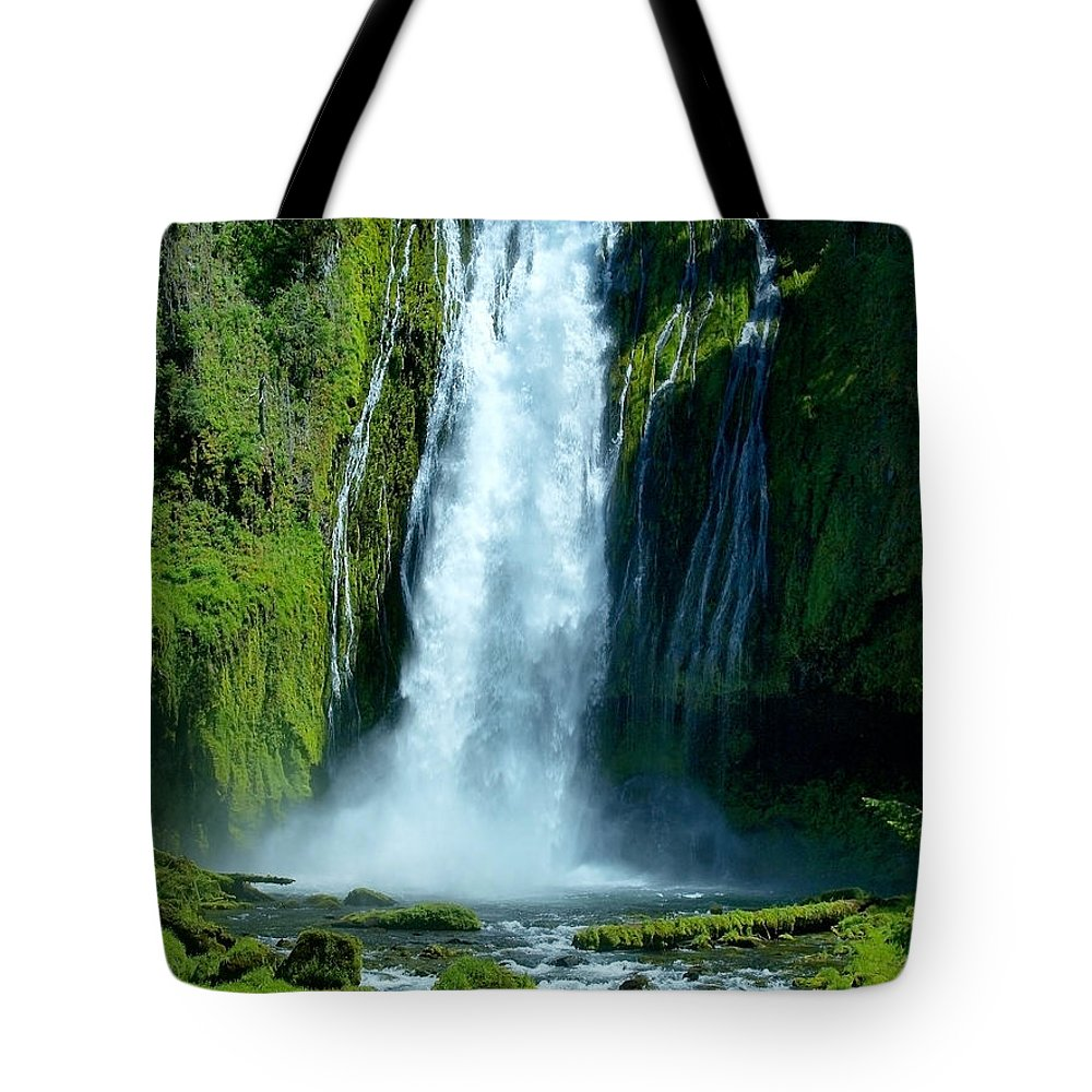 Water Tote Bag featuring the photograph Lamolo Falls by Teri Schuster
