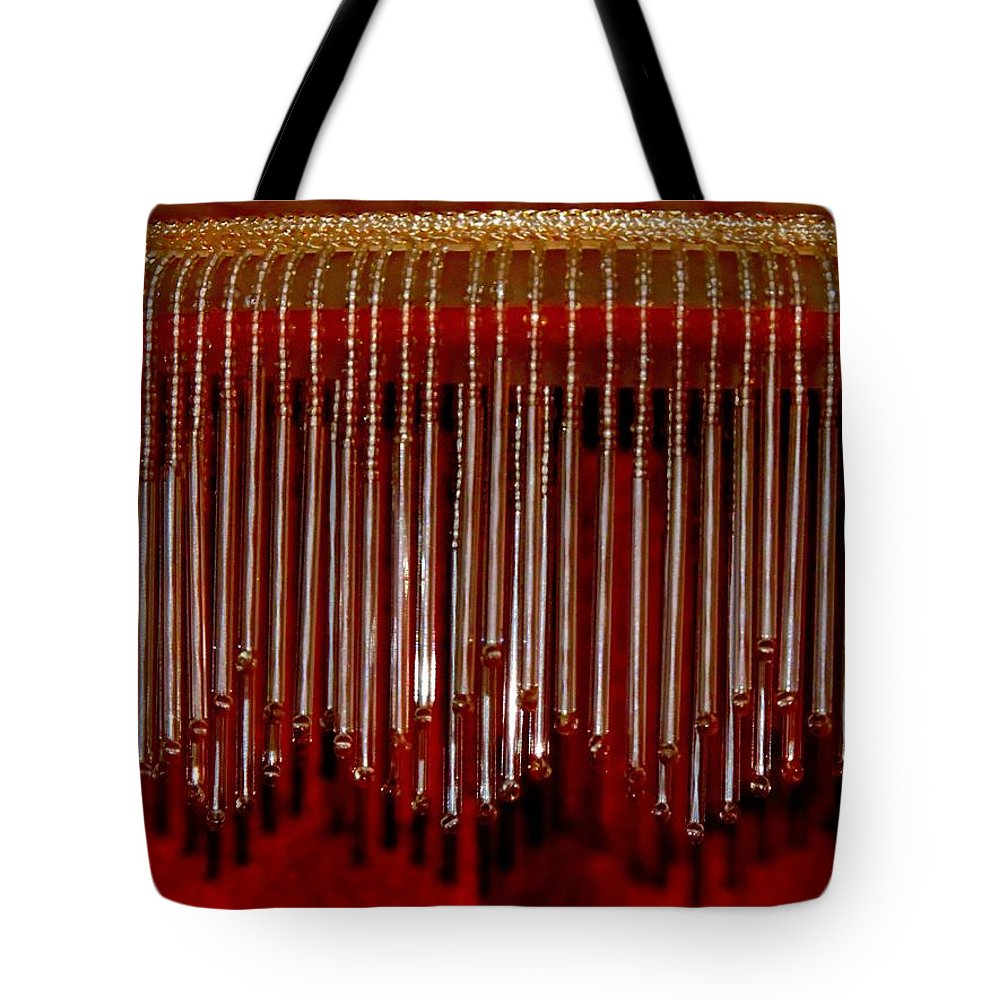 Lamp Tote Bag featuring the photograph Lamp Shade by Nancy Wagener