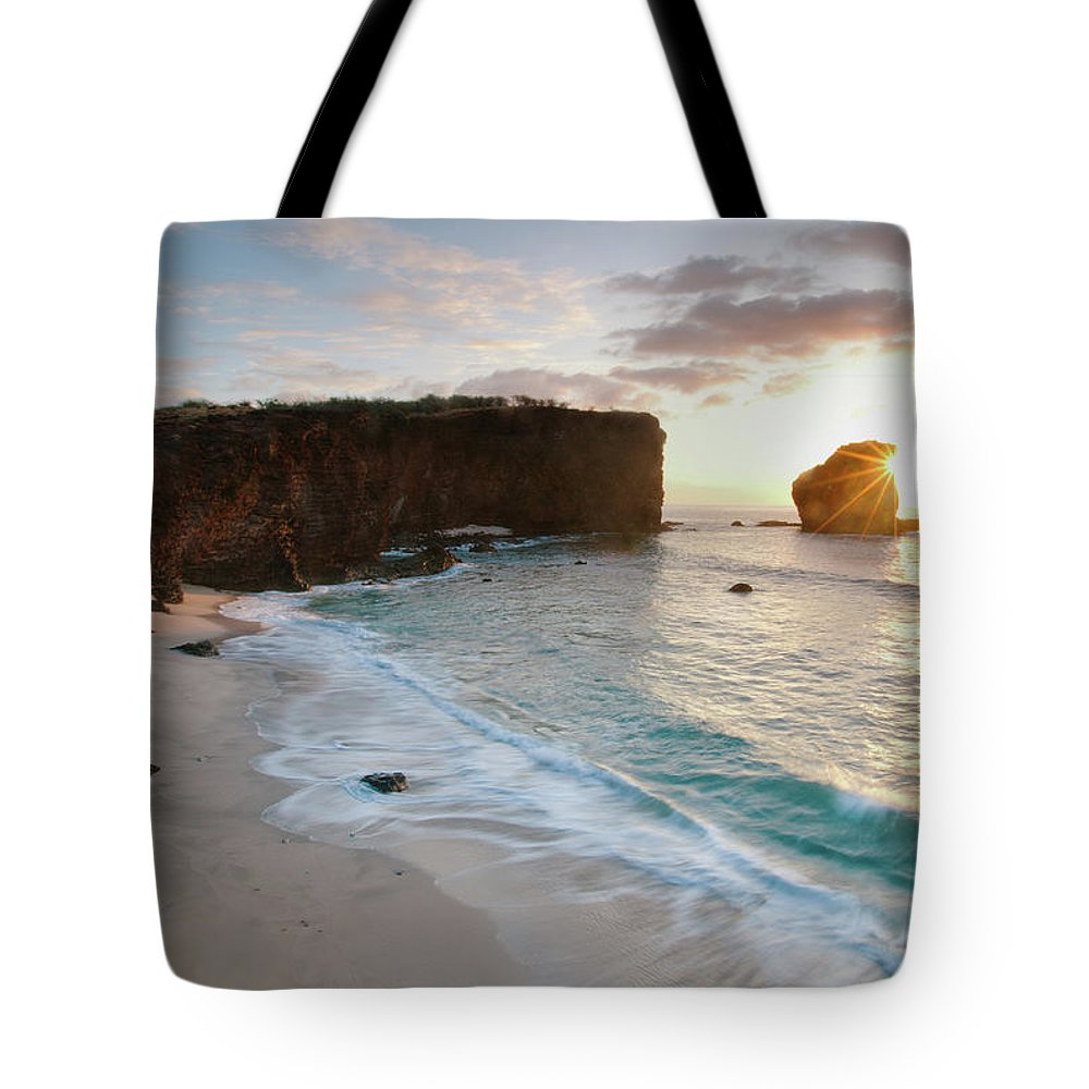 Scenics Tote Bag featuring the photograph Lanai Sunset Resort Beach by M Swiet Productions