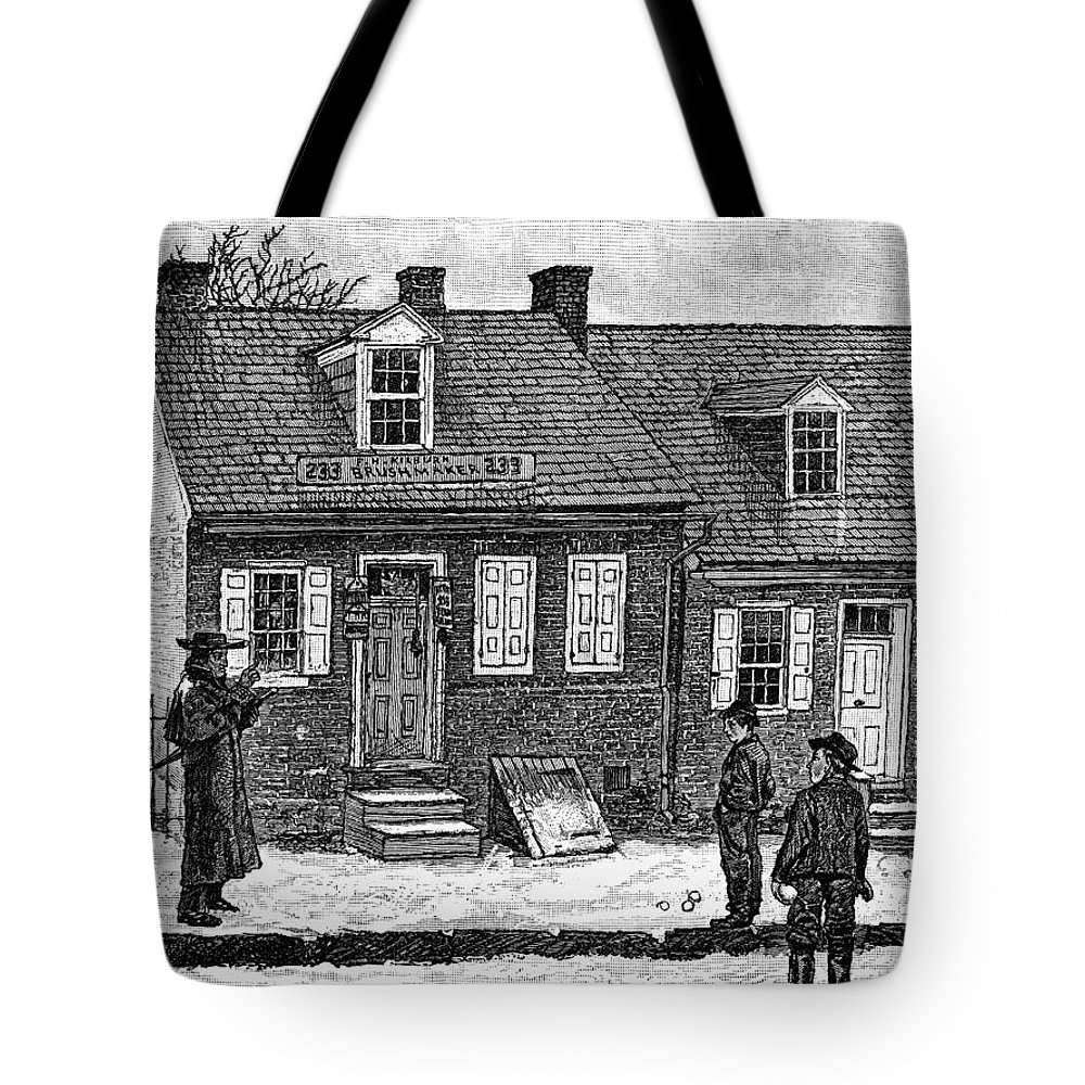 1880 Tote Bag featuring the painting Lancaster, Pennsylvania by Granger