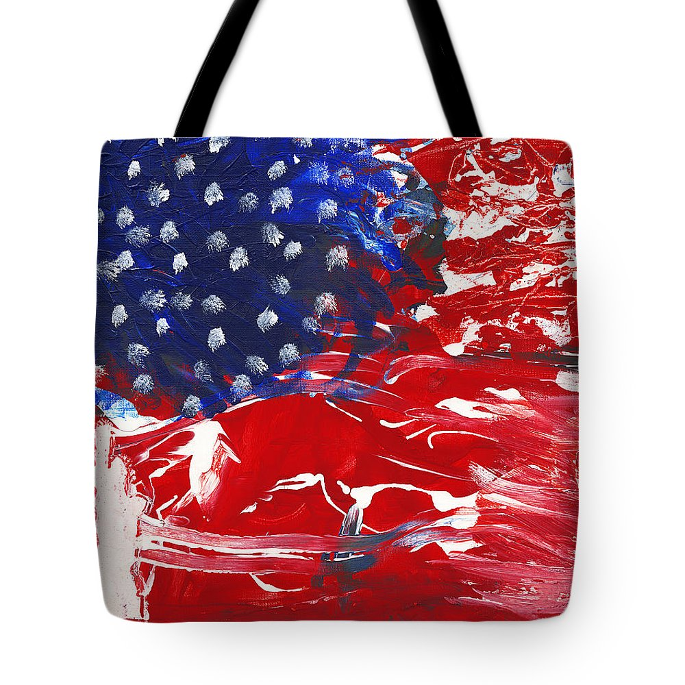 Independence Tote Bag featuring the painting Land Of Liberty by Luz Elena Aponte