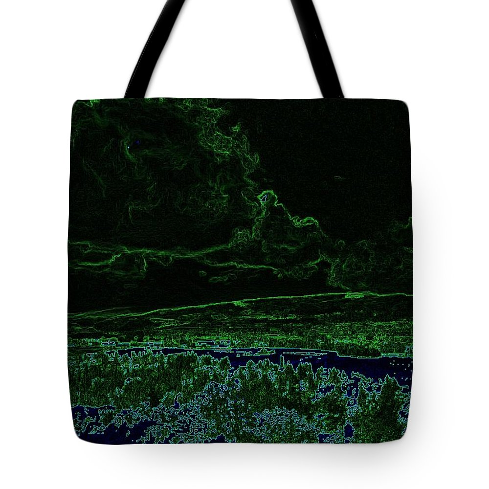 Tote Bag featuring the photograph Landcape Glowing by Jeff Swan
