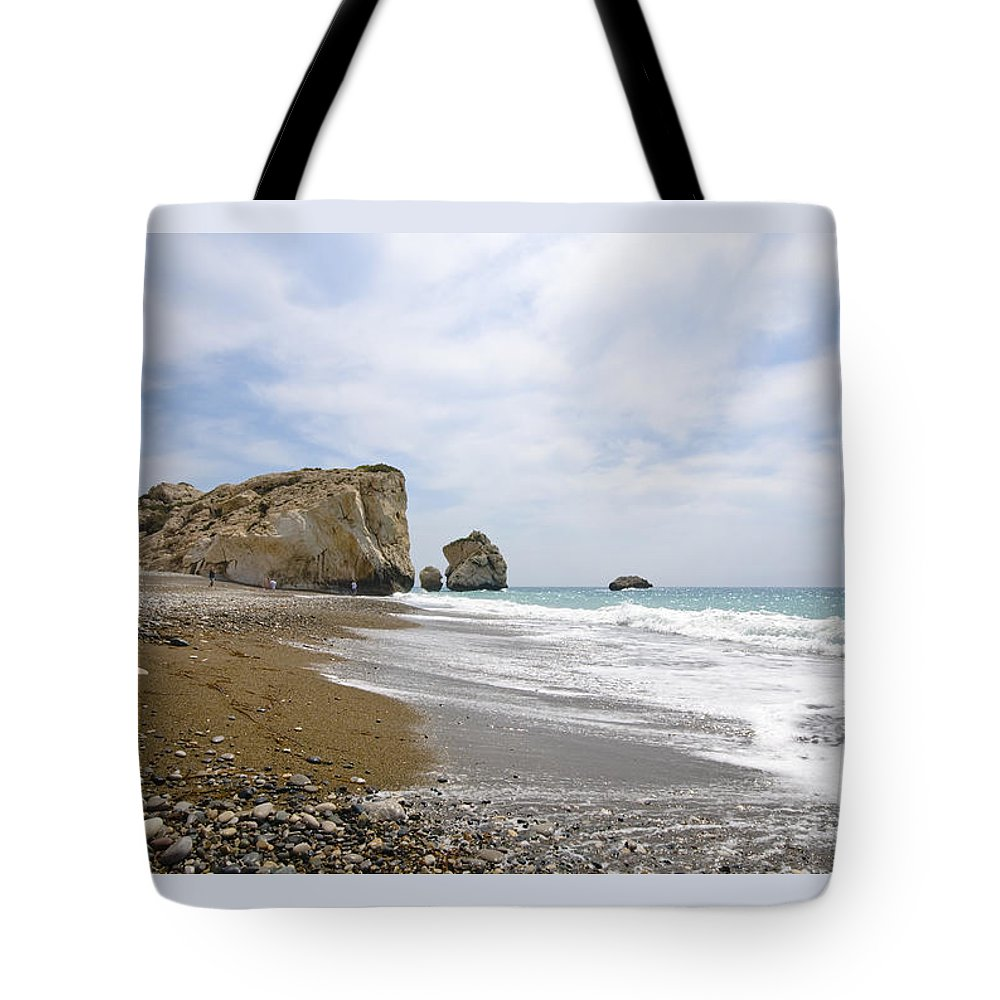 Michalakis Ppalis Tote Bag featuring the photograph Seascape Paphos Cyprus by Michalakis Ppalis