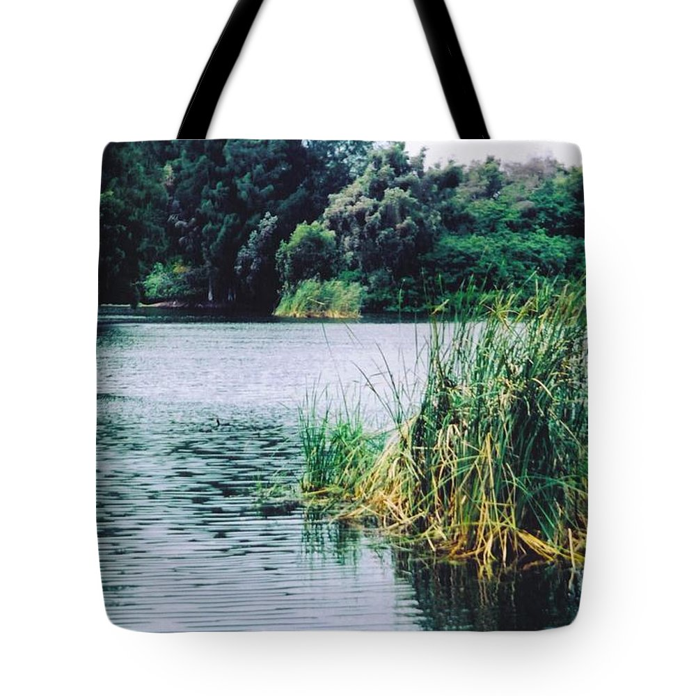 Lakes Park Tote Bag featuring the photograph Landscape by Robert Floyd