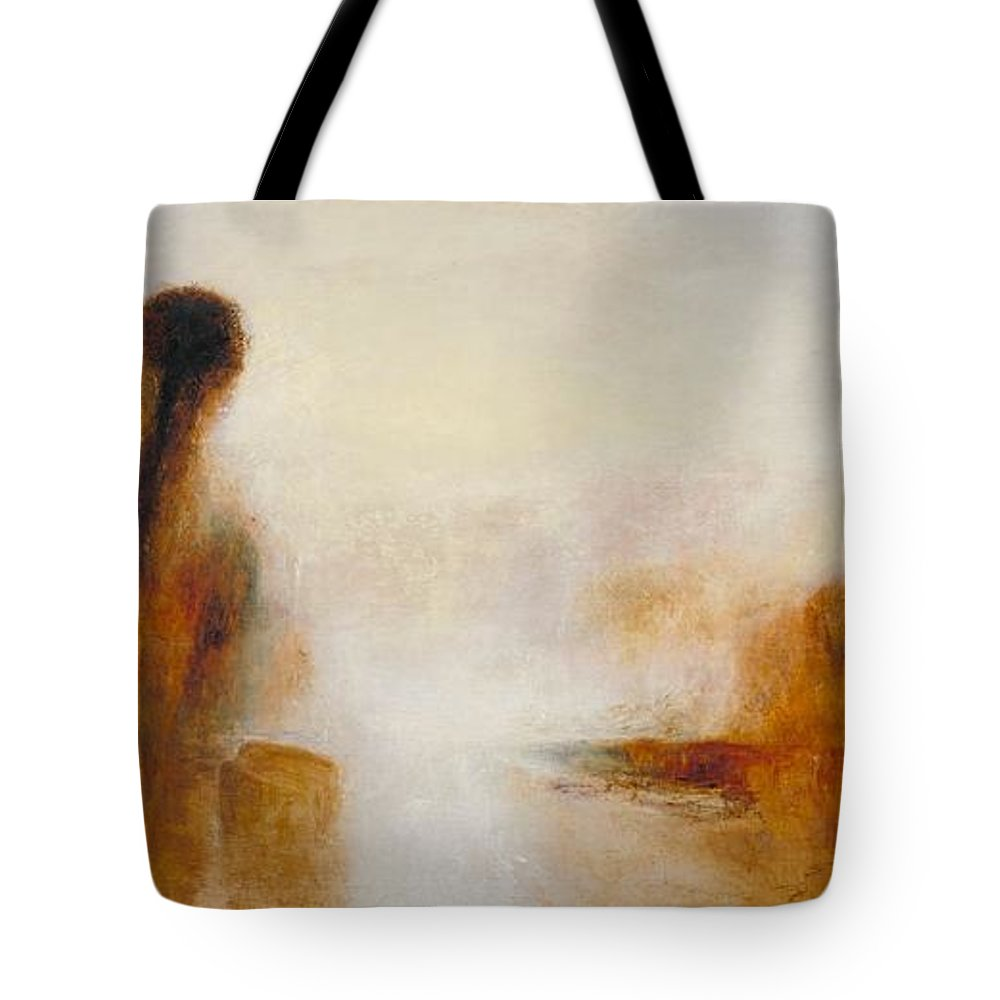 1840 Tote Bag featuring the painting Landscape With Water by JMW Turner