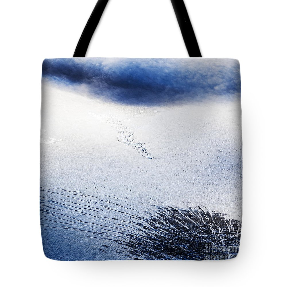 Abstract Photography Tote Bag featuring the photograph Langjokull by Gunnar Orn Arnason