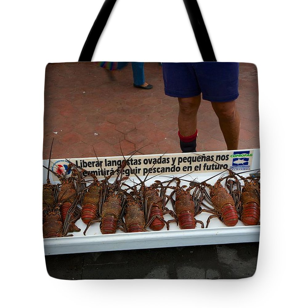 Langosta Tote Bag featuring the photograph Langosta by Allan Morrison