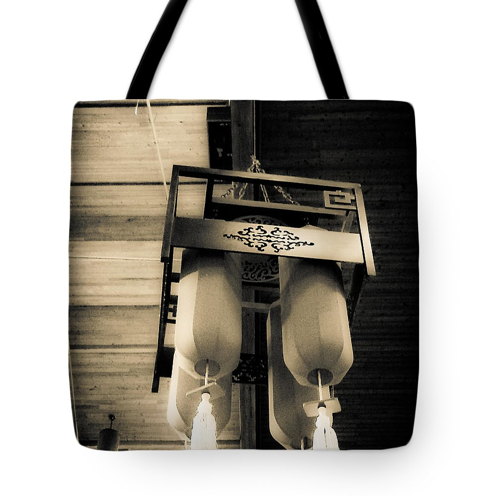 Lanterns Tote Bag featuring the photograph Lanterns by Fei A