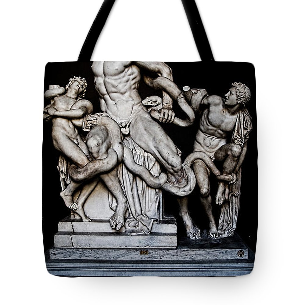 Laocoon Tote Bag featuring the photograph Laocoon And The Snake by Weston Westmoreland