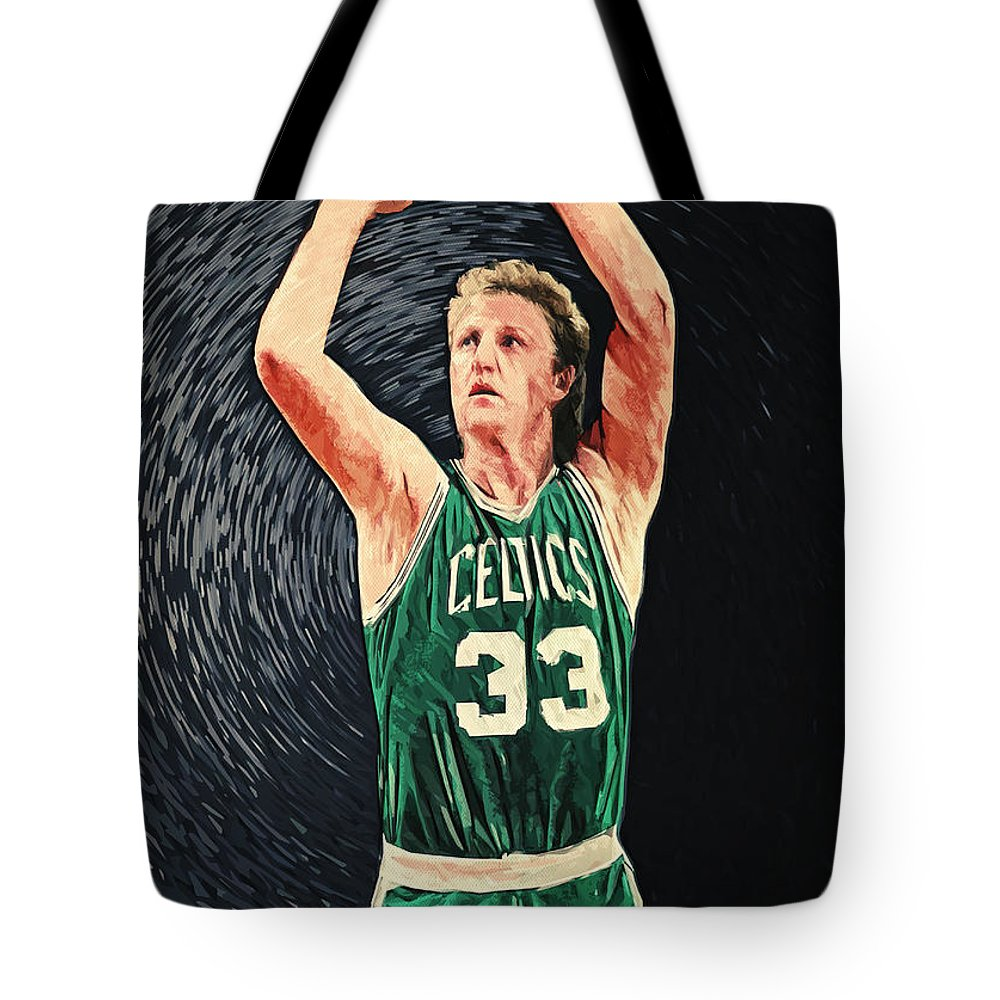 Larry Bird Tote Bags