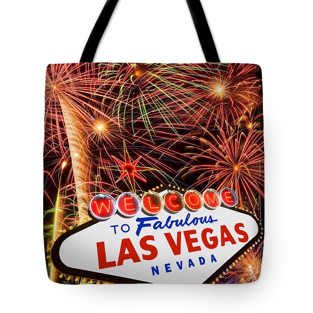 America Tote Bag featuring the photograph Las Vegas by David Davis