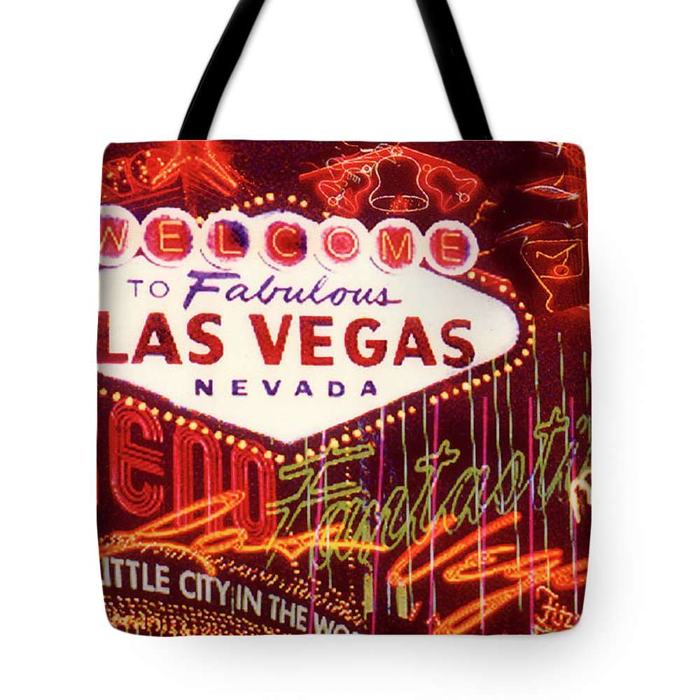 Outdoors Tote Bag featuring the photograph Las Vegas Neon by Lyle Leduc
